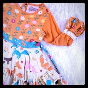 Jelly The Pug 5 Forest Friends Jamie dress fall